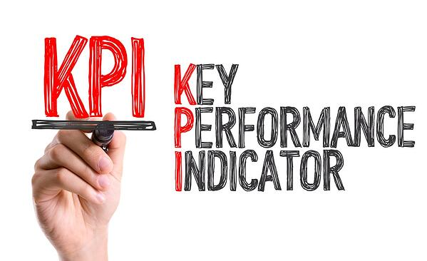 Hand with marker writing KPI